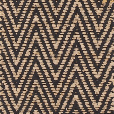 Salley Hand-Woven Beige/Black Area Rug Rug Size: 79 x 106
