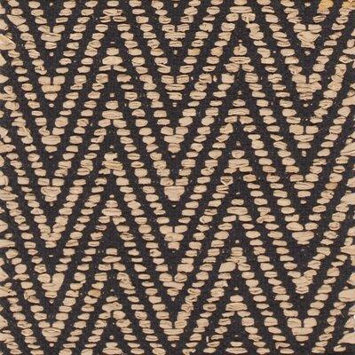 Sora Hand-Woven Beige/Black Area Rug Rug Size: 79 x 106