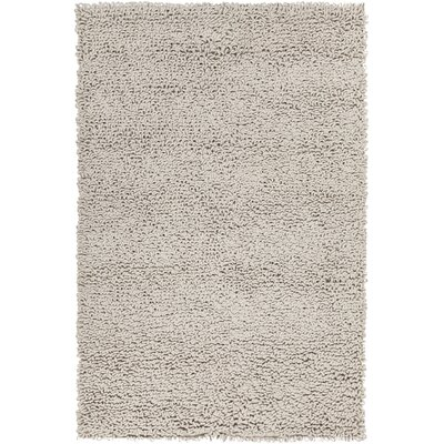 Shelly Hand-Woven Silver Area Rug Rug Size: 79 x 106
