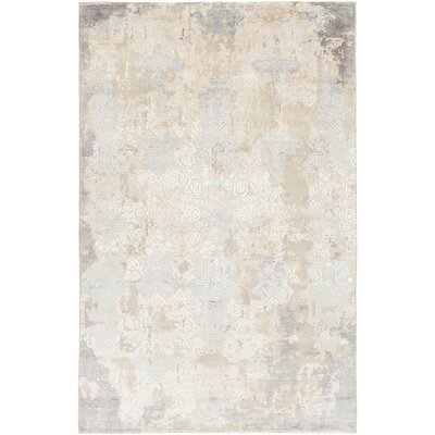 Rodericks Hand-Knotted Beige Wool Area Rug Rug Size: 9 x 13