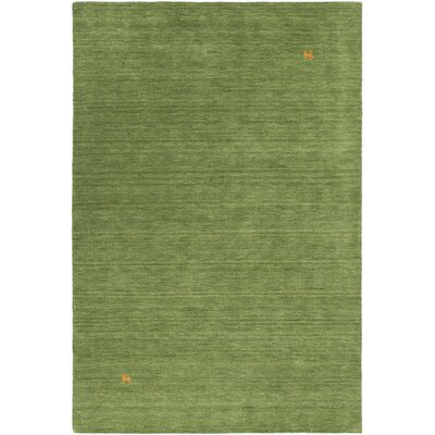 Stockstill Handmade Green Area Rug Rug Size: Rectangle 79 x 106
