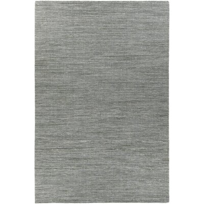 Laxford Hand-Woven Gray/Green Area Rug Rug Size: 79 x 106