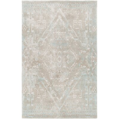 Cristal Hand-Woven Beige Area Rug Rug Size: 5 x 76