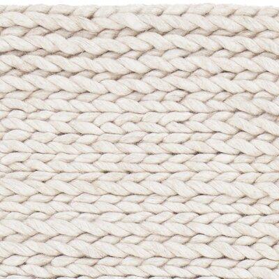 Chloe Hand-Woven Beige Area Rug Rug Size: 79 x 106