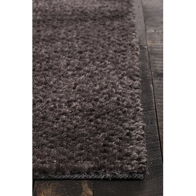 Janey Hand-Woven Gray Area Rug Rug Size: 5 x 76