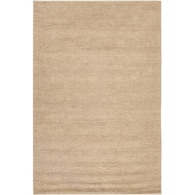 Tenth Avenue Hand-Woven Beige Area Rug Rug Size: 79 x 106