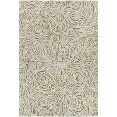 Wagstaff Hand-Tufted Green/Gray Area Rug Rug Size: 5 x 76