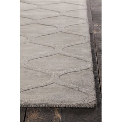 Raya Hand-Tufted Gray Area Rug Rug Size: Round 8