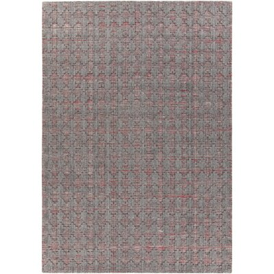Netix Hand-Woven Red/Gray Area Rug Rug Size: 79 x 106