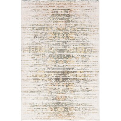 Rodericks Hand-Knotted Beige Area Rug Rug Size: 9 x 13