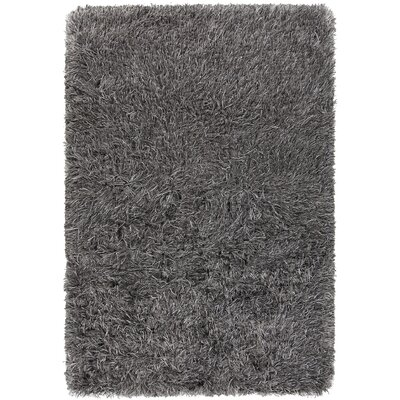 Onex Hand-Woven Gray/Black Area Rug Rug Size: 7'9