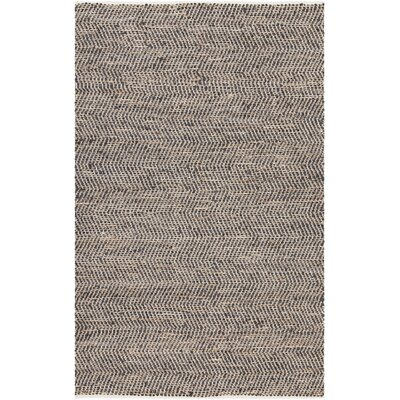 Polito Hand-Woven Brown/Black Area Rug Rug Size: 79 x 106