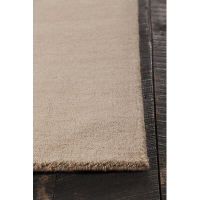 Stockstill Hand-Knotted Beige Area Rug Rug Size: Rectangle 79 x 106