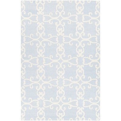 Makenna Hand-Tufted Gray/Cream Area Rug Rug Size: 79 x 106