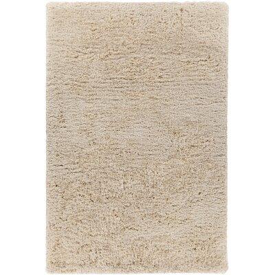 Garretson Hand-Woven Beige Area Rug Rug Size: 79 x 106