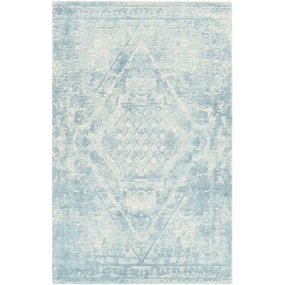 Tayla Hand-Tufted Blue/White Area Rug Rug Size: 79 x 106