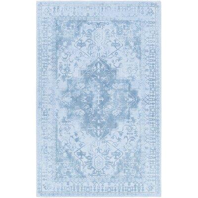 Cedargrove Hand-Tufted Blue Area Rug Rug Size: 79 x 106