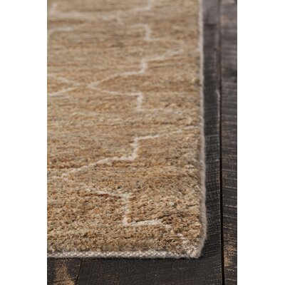 Nesco Hand-Knotted Natural Area Rug Rug Size: 79 x 106
