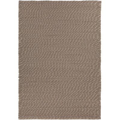 Leff Hand-Woven Taupe Area Rug Rug Size: 79 x 106