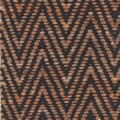 Salley Hand-Woven Brown/Black Area Rug Rug Size: 79 x 106