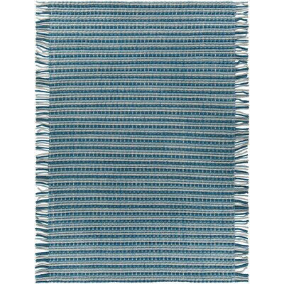 Adaline Hand-Woven Blue/Gray Area Rug Rug Size: 7'9