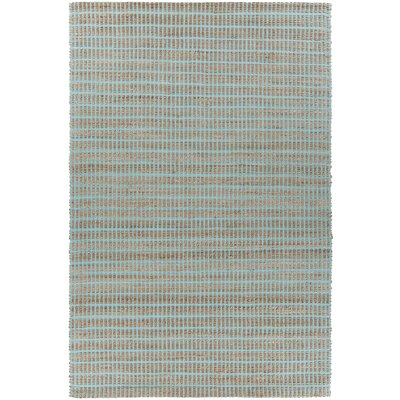 Abacus Hand-Woven Blue/Brown Area Rug Rug Size: 5 x 76