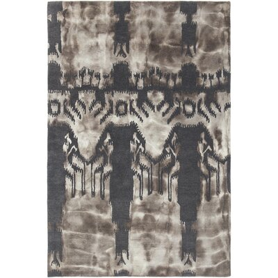 Cailin Hand-Woven Charcoal/Beige Area Rug Rug Size: 79 x 106