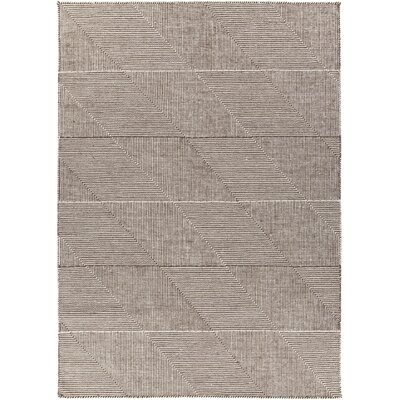 Charity Hand-Woven Brown Area Rug Rug Size: 79 x 106