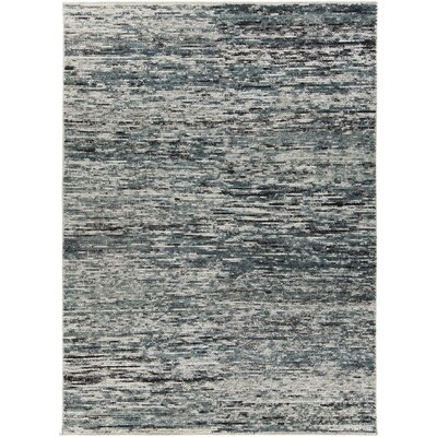 Marcial Hand-Woven Cream/Gray Area Rug Rug Size: 5 x 76