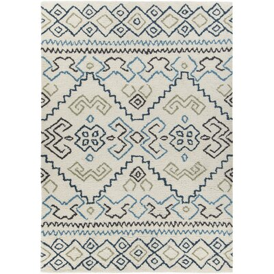 Chartwell Hand-Woven Wool Cream Area Rug Rug Size: 5 x 76