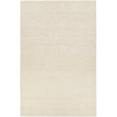 Tenth Avenue Hand-Woven White Area Rug Rug Size: 79 x 106