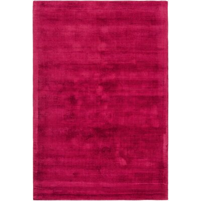 Stockman Hand-Woven Red Area Rug Rug Size: 5' x 7'6