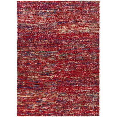 Marcial Hand-Woven Red Area Rug Rug Size: 79 x 106