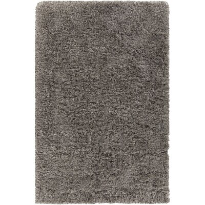 Cleaver Hand-Woven Gray/Black Area Rug Rug Size: 79 x 106