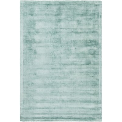 Gelco Hand-Woven Teal Area Rug Rug Size: 79 x 106
