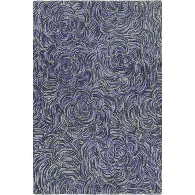 Wagstaff Hand-Tufted Purple/Gray Area Rug Rug Size: 5 x 76