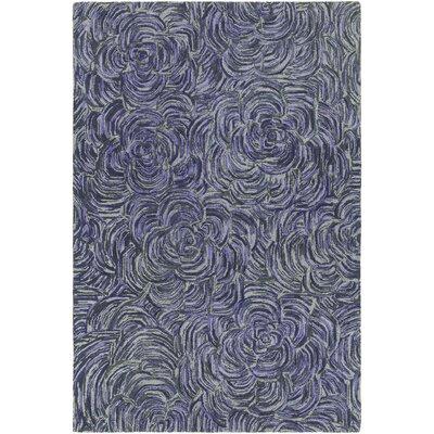 Wagstaff Hand-Tufted Purple/Gray Area Rug Rug Size: 79 x 106