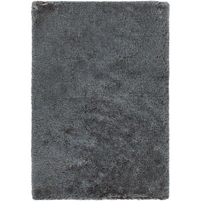 Gareth Hand-Woven Blue/Brown Area Rug Rug Size: 79 x 106