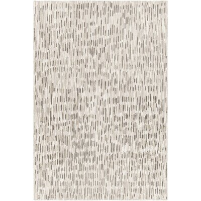 Kirtley Hand-Tufted Beige/Charcoal Area Rug Rug Size: 79 x 106