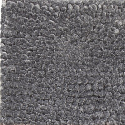 Reanna Hand-Woven Charcoal Area Rug Rug Size: 79 x 106