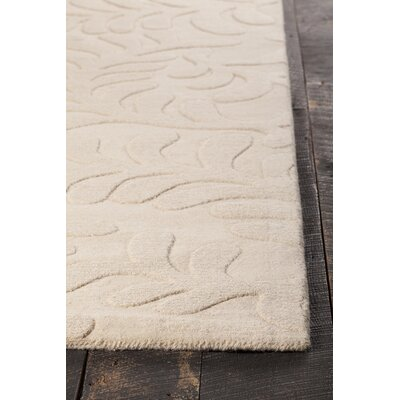 Mystica Hand-Tufted White Area Rug Rug Size: 5 x 8