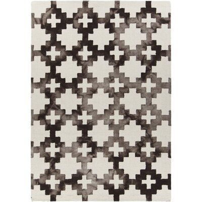 Elvo Hand-Tufted Brown/White Area Rug Rug Size: 79 x 106