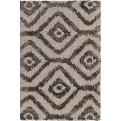 Paola Hand-Tufted Natural/Gray Area Rug Rug Size: 79 x 106