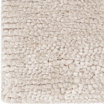 Mae Hand-Woven Beige Area Rug Rug Size: 5 x 76