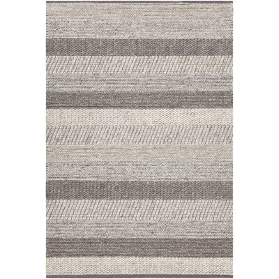 Readington Hand-Woven Gray Mix Area Rug Rug Size: 79 x 106