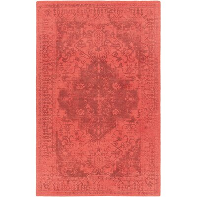 Kelsey Hand-Tufted Red/Black Area Rug Rug Size: 79 x 106