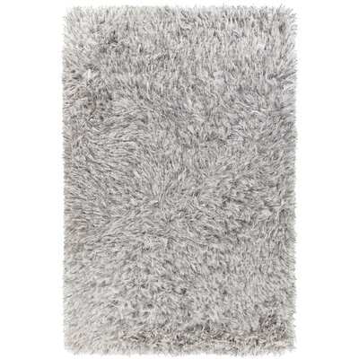 Onex Hand-Woven White Area Rug Rug Size: 79 x 106