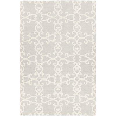 Ruggiero Handmade Silver/Cream Area Rug Rug Size: 79 x 106