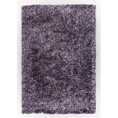Supros Hand-Woven Purple Area Rug Rug Size: 79 x 106
