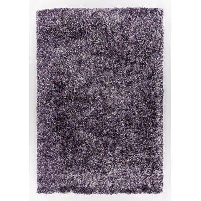 Berriman Hand-Woven Purple Area Rug Rug Size: 79 x 106